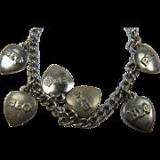 Beta Sigma Phi Sorority Sterling Charm Bracelet