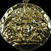 Signed SPHINX Sun Pendant Necklace