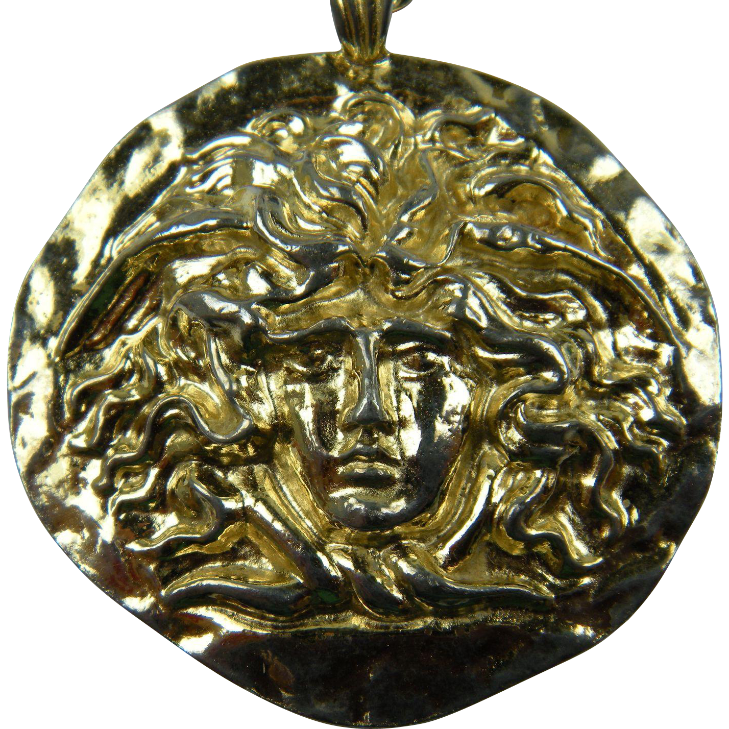 Signed SPHINX Sun Pendant Necklace