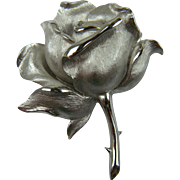 Signed TRIFARI Rose Brooch