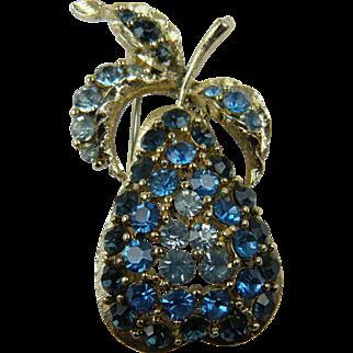 Unsigned Pear Brooch Wonderful Figural