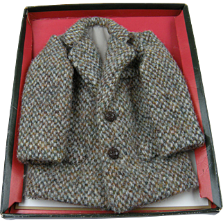 Unique Doll-Sized Salesman Sample Harris Tweed Jacket