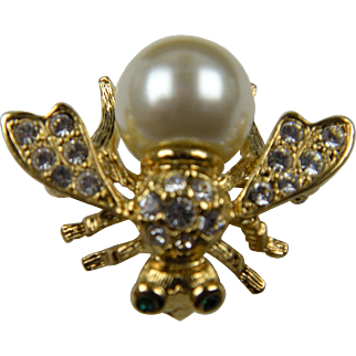 Joan Rivers Classics Collection Interchangeable Bee Brooch with 10 Cabochons New in Box