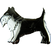 Scottie Dog Brooch Extra Large