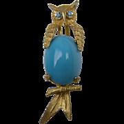 Signed Hattie Carnegie Owl Brooch Book Piece