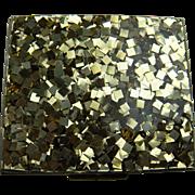 Mid-20th Century Confetti Lucite Compact