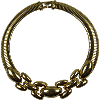 Repousse' Embellished Collar Necklace