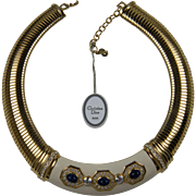 Stunning Signed Christian Dior Choker Length Necklace
