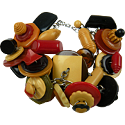 Absolutely Loaded Bakelite Button Bracelet