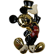 Signed NAPIER Mickey Mouse Brooch