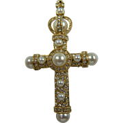 Signed JBK for Jacqueline Bouvier Kennedy  Camrose and Kross Regal Cross Brooch