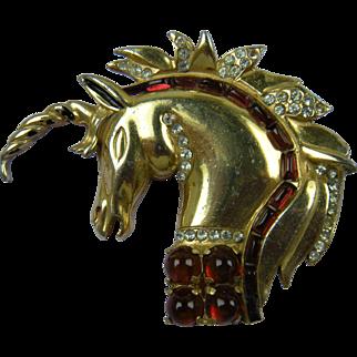 Rare Signed 1940's REINAD Unicorn Brooch Book Piece