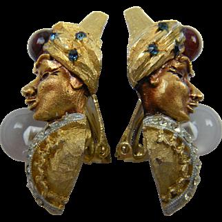 Classic Signed HAR Genie Earrings