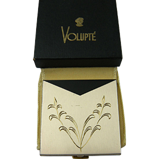 Signed VOLUPTE U.S.A. Compact with Pouch and Original Box Unused