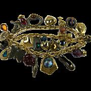 Signed ZOE COSTE Chunky Charm Bracelet