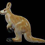 Resin Hand Painted Kangaroo Brooch