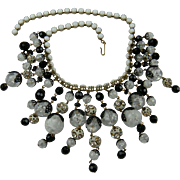 Signed HOBE' Cascading Bib Style Necklace