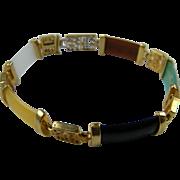 Signed AVON Imitation Jade Link Bracelet