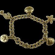 Delicate Sea Life Charm Bracelet