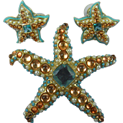 Best Starfish Brooch with Matching Earrings by Kenneth Jay Lane