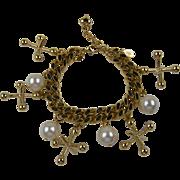 Kirk's Folly Signed Jacks Charm Bracelet