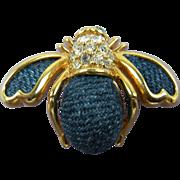 Amazing Denim Bee Brooch Joan Rivers