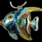 Huge Cloisonne Fish Pendant