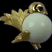 Cutest Bird Brooch Signed NAPIER