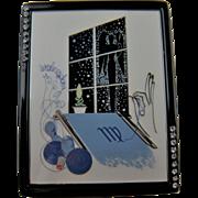 Estee Lauder Zodiac Compact Design by Erte'