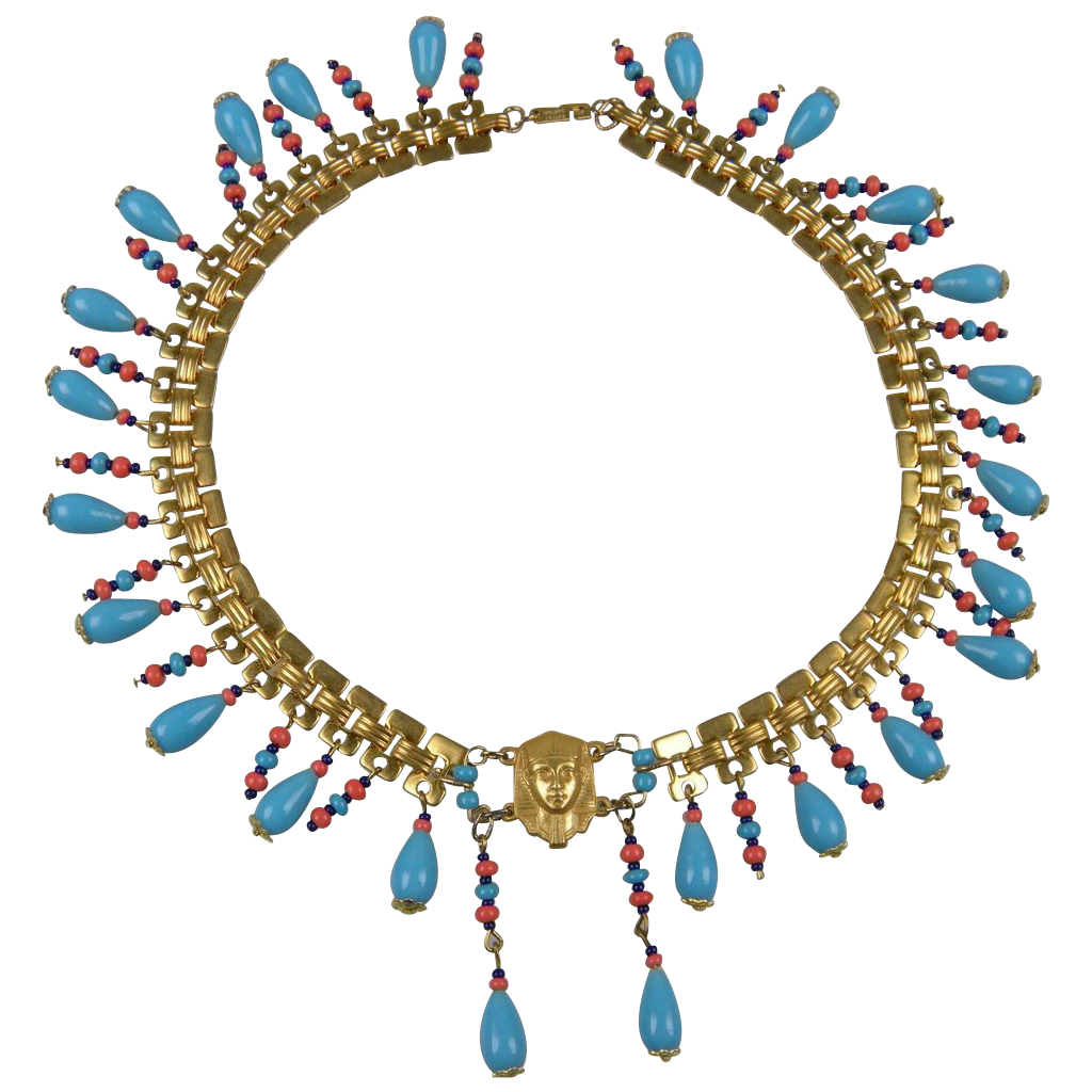 MIRIAM HASKELL Egyptian Revival Parure