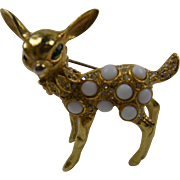 Signed K.J.L. Kenneth Lane Fawn Brooch
