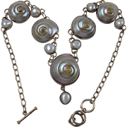 Extraordinary Sterling Silver Shell Necklace