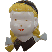 Very Early Plastic Girl Scout Pin