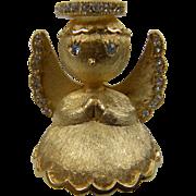 Signed Angel On My Shoulder Brooch
