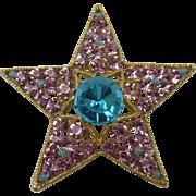 Signed BSK Star Brooch