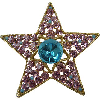 Signed BSK Star Brooch