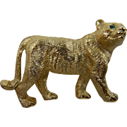 Signed NAPIER Big Cat Brooch