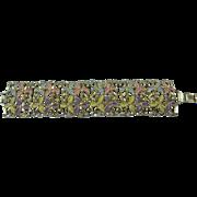 Extra Wide Pastel Enameled Link Bracelet