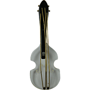 Large Bakelite and Lucite Violin Pin Book Piece