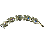 Signed SARAH COVENTRY Iridescent Rhinestone Bracelet