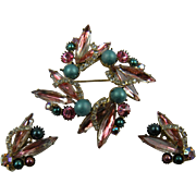 Shimmering Pink and Blue Rhinestone Demi with Icing