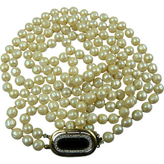 Signed GIVENCHY 1979 Imitation Pearls Hand Knotted