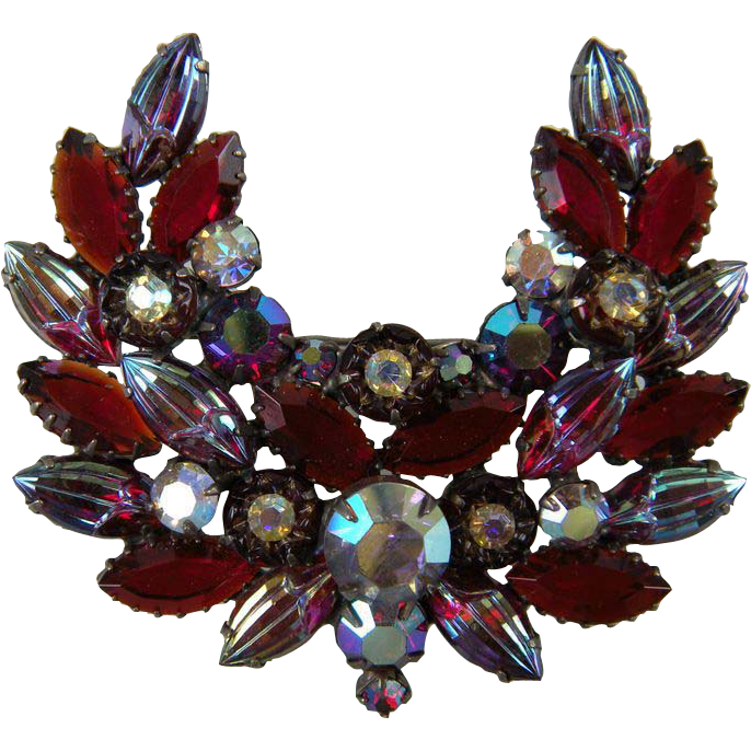 DeLizza and Elster Rhinestone Brooch