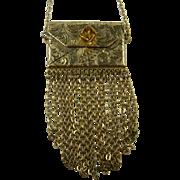 Unique Purse Necklace with Chain Embellishments
