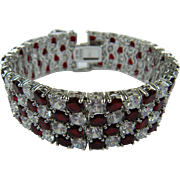 The Ultimate Ruby Red Rhinestone Bracelet