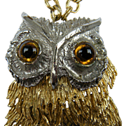 Huge 1960's Owl Pendant with Extraordinary Detail