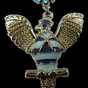 Signed Vintage Betsey Johnson Eagle Pendant