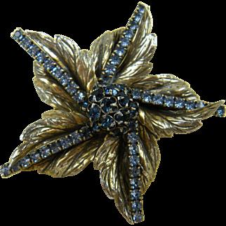 Signed SANDOR Flower Brooch