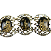 Gorgeous Mid-20th Century Asian Motif Bracelet