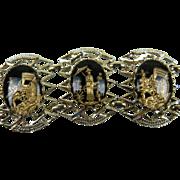Gorgeous Mid-20th Century Asian Motif Bracelet